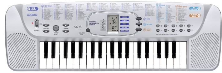 My first keyboard CASIO SA-75