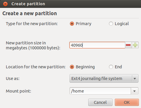 Home Partitioning