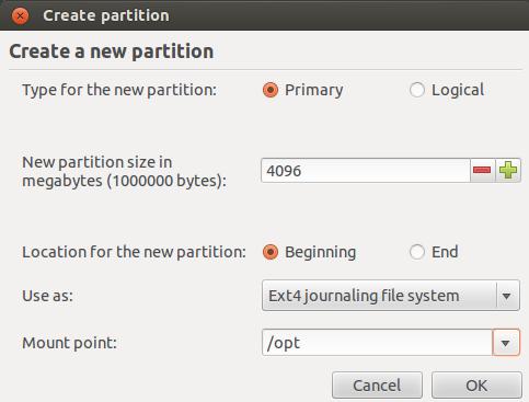 '/opt' Partition Folder