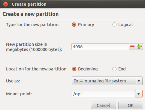 '/opt' Partition Folder