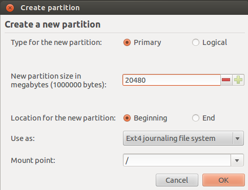 Root Partitioning