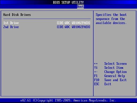 BIOS BOOT menu select drive.