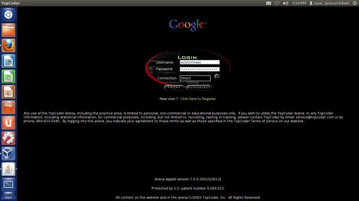 TopCoder Login Portal