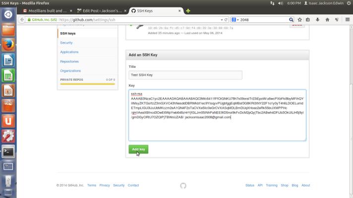Add SSH Key on Github