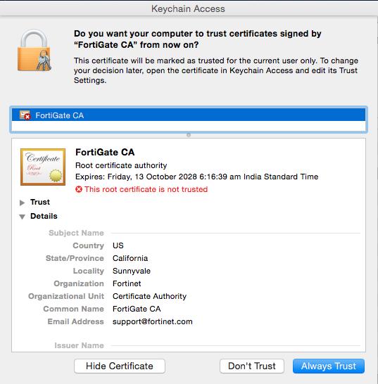 Add Certificate to Keychain