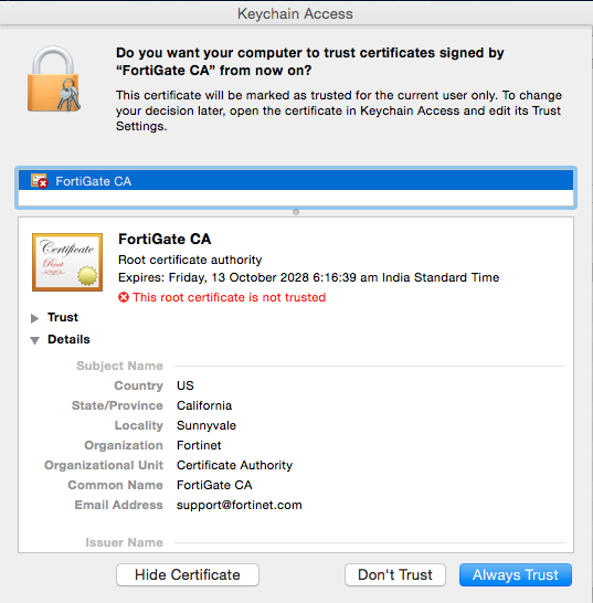 Add Certificate to Keychain