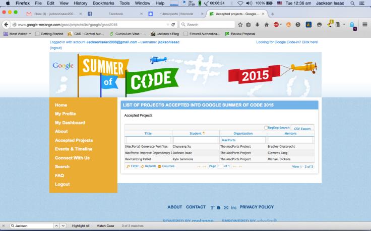 GSoC 2015 - The MacPorts Project
